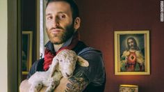 Diana Bagnoli's portraits show the special bond between people and their wild animals, including alpacas, pigs, rabbits and geese.