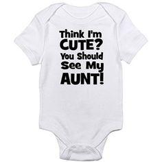 Cafepress Cute Aunt Newborn Baby Bodysuit