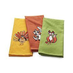 Critters Dish Towels Set of Three