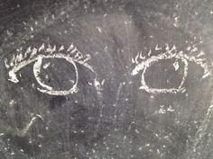 Chalkboard eyes