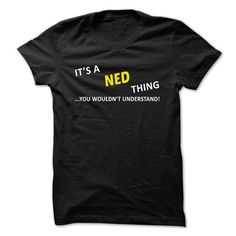 awesome its t shirt name NED