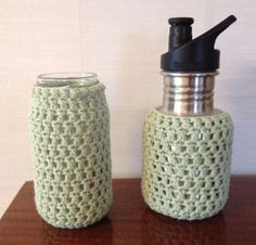 Crochet jar cover, bottle cover, plasticfree, jar cozy, babybottle cover, protect your glasbottle by ByKemp on Etsy