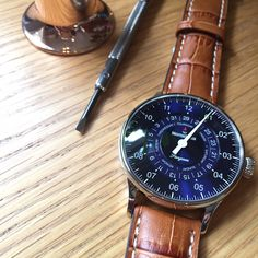 MeisterSinger Pangaea Day Date watch.  Single hand watch with a day and date function. How about that?  Ref. PDD908
