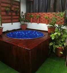 Small Backyard Pools, Small Pools, Backyard Landscaping, Home Design Decor, House Design, Piscina Diy, Outdoor Living, Outdoor Decor, Jacuzzi
