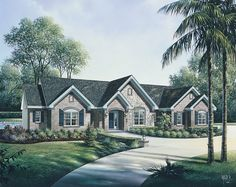 Traditional House Plan with 2695 Square Feet and 3 Bedrooms from Dream Home Source | House Plan Code DHSW076156