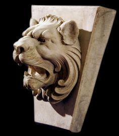 Roman Key - Lion Head plaque