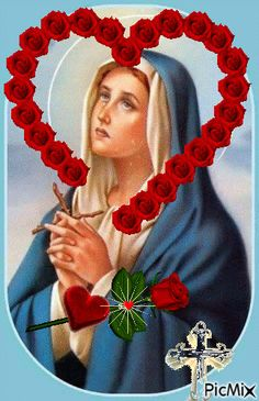 Mary Jesus Mother, Blessed Mother Mary, Mary And Jesus, Blessed Virgin Mary, Jesus And Mary Pictures, Pictures Of Christ, Jesus Christ Images, Merry Christmas Gif, Christmas Art