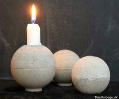 Brug beton i indretningen for et råt udtryk. Lav selv den her lysestage i beton og en lysstøbeform.
