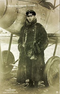 World War One German Aviator Walter Göttsch of Jasta 8