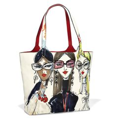 If your happy place is in Manhattan, this sassy soft tote is perfect for you! Colorful illustrations make this shopper a perfect handbag for showing off your style, and carrying everything you need! Tote Handbags, Purses And Handbags, Leather Handbags, Ladies Handbags, Coin Purses, Tote Purse, Painted Bags, Unique Purses, Medium Tote