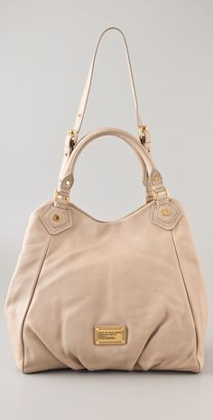 Marc Jacobs Classic Q Francesca tote in creme.