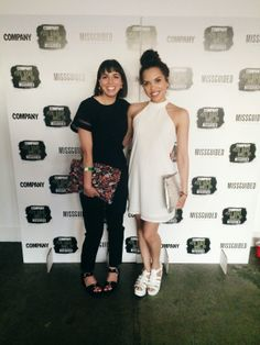 Company Style Blogger Awards 2014 - #OOTN Missguided - White Halter Neck Dress & Black Jumpsuit