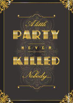 ...cute idea for a Gatsby-themed party...
