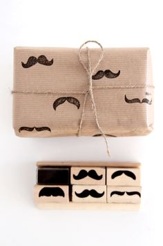 Mustache gift wrap/wrapping paper #mustache #wrapping #gift