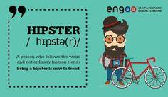 """Hipster (хипстер) - современный стиляга. Этот термин пришёл от выражения """"to be hip"""", что значит """"быть в теме""""."""