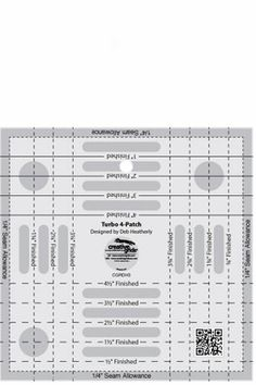 Creative Grids Turbo 4-Patch Template # CGRDH3