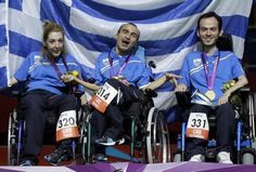 Human greatness deserves recognition. Gold Medal for Greece in London Paralympics 2012..