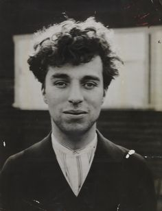 A photographic portrait of Charlie Chaplin as a young man, Hollywood, taken around 1916 by an unknown photographer.