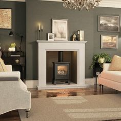 Broseley Hereford 5 Gas Stove - Gas Stoves - All Stoves - Stoves Are Us Wood Burner Fireplace, Marble Fireplace Surround, Inglenook Fireplace, Freestanding Fireplace, Small Fireplace, Living Room With Fireplace, Fireplace Surrounds, Gas Stove Fireplace, Fireplace Feature Wall