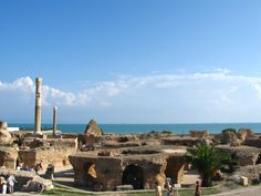 Located in modern-day Tunis in Tunisia and founded by the seafaring Phoenicians, the ancient city of Carthage was a major center of trade and influence in the western Mediterranean. Archaeological evidence suggests the site was occupied as early as 760 B.C. The city, and its peoples, fought several wars against Rome (called the Punic Wars), ultimately leading to the downfall of Carthage in about 146 B.C. [Read more: Carthage - Ancient Phoenician City-State]