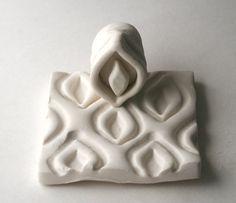 Polymère argile Stamp Calla Lily carrelage marocain par GiselleNo5