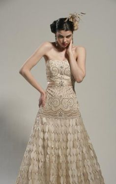 Sue Wong Strapless Vintage Ball Gown