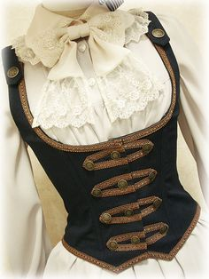 Wondering what is Steampunk? Visit our website for more information on the latest with photos and videos on Steampunk clothes, art, technology and more. Viktorianischer Steampunk, Costume Steampunk, Steampunk Clothing, Steampunk Fashion, Victorian Fashion, Steampunk Necklace, Victorian Gothic, Gothic Fashion, Renaissance Clothing