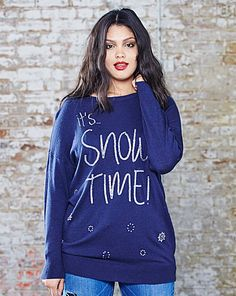 Christmas It s Snow Time Sweater  Cute and quirky 428d7e6ee