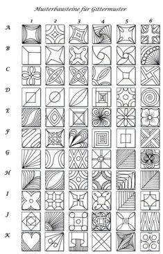 Zentangles! I loved doing this as a youngster, I...