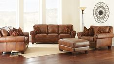 Silverado Leather Living Room Set