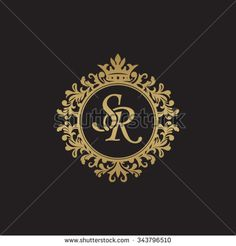 SM initial luxury ornament monogram logo - buy this vector on Shutterstock & find other images. Monogram Logo, Monogram Design, Monogram Initials, Monogram Frame, Wc Logo, Logo Sp, Wedding Logo Design, Wedding Logos, Wedding Card
