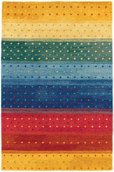 Oasis Rainbow 6156/0202 Multi Color Rug from the Gabbeh Rugs Collection collection at Modern Area Rugs