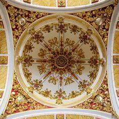 Ermita Sagrada Familia dome ceiling in Vall De Uxo, via Flickr.