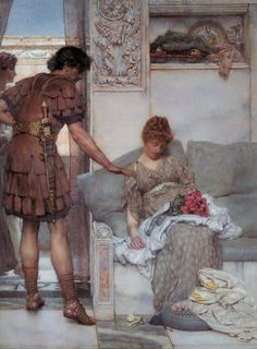 ~ Lawrence Alma-Tadema ~ I don't why, but I love the beckoning of this....