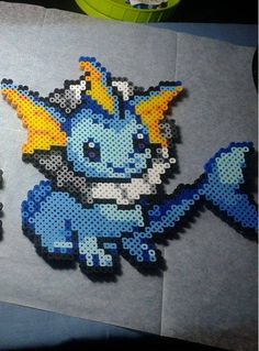 Hey, I found this really awesome Etsy listing at https://www.etsy.com/listing/219247013/perler-bead-vaporeon-pokemon-134