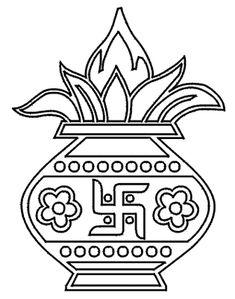 Use Theses Rangoli Designs for Hindu Festival Decorations: Ghara Design 2 Rangoli Patterns, Rangoli Designs Diwali, Diwali Rangoli, Kolam Designs, Dot Rangoli, Diwali Craft, Wedding Symbols, Hindu Wedding Cards, Wedding Gifts