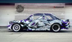 "Vehicle wrap design for ""Ryba"" Rybicki E30 - Małachowski Projekt"
