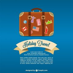 Travel valise vector background Free Vector