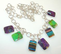 Sweet!! Multicolor Passion Multigem Sterling Silver necklace price: $85.15  #Popular  #Jewelry  #Fashion