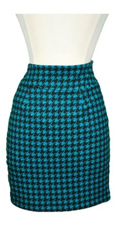 @Beck R- Hot Stuff in Houndstooth Skirt