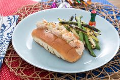 New England-Style Shrimp Rolls with Grilled Green & Yellow Wax Bean Salad. Visit https://www.blueapron.com/ to receive the ingredients.