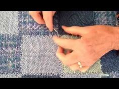Making Tacks on Baby Blue Squared - A Zoom Loom Project