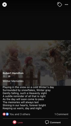 Winter Day, Poems, Memories, Cold, Memoirs, Souvenirs, Poetry, Verses