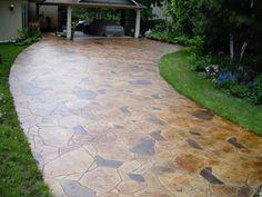 Acid Stain Stamped Concrete