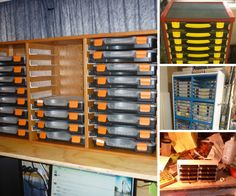 Component Storage & DIY small parts storage. I might have to do something similar but ...