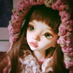 Thinking about the possibility that has open up before me. Faceup by @bittersweetenmi #bjd #dim #larina #dollinmind #faceup #doll #costum #artdoll #kawii #cute #dolls #wig #handmade #lolita #mori #Hat #cap #headgear #crochet #knitting #sew #fabric #yarn #lace #ribbon