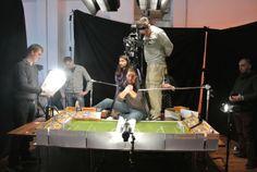 Am Set: Dreh der Anstoßszene zum offiziellen PaperShot Video #PaperShot #Fingerfußball