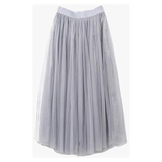 Gray Tulle High Waist Midi Skirt ($39) ❤ liked on Polyvore featuring skirts, grey, layered skirt, high-waisted skirts, high waisted skirts, mid calf skirts and high-waisted midi skirts