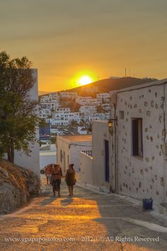 Sunset in Astypalaia, Greece