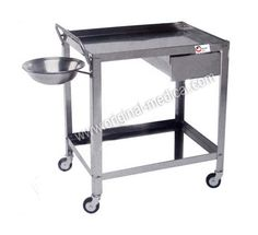 Original Medical: Hospital Medical Dressing Trolley  This stainless steel hospital Dressing Trolley with wheels is also one of our hospital furniture products at Original Medical Equipment company pvt.ltd as a leading Hospital Medical products and equipment manufacturer and worldwide suppliers. Our all products are best quality. Know more about our this products please visit our website. Truck Wheels, Medical Equipment, Steel Furniture, Dressing, Stainless Steel, Website, The Originals, Metals, Products
